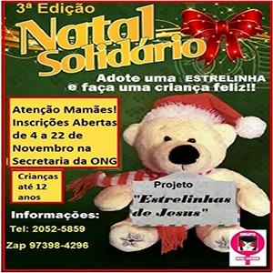 Estrelinhas de Jesus Natal Solidário Rosa Choque