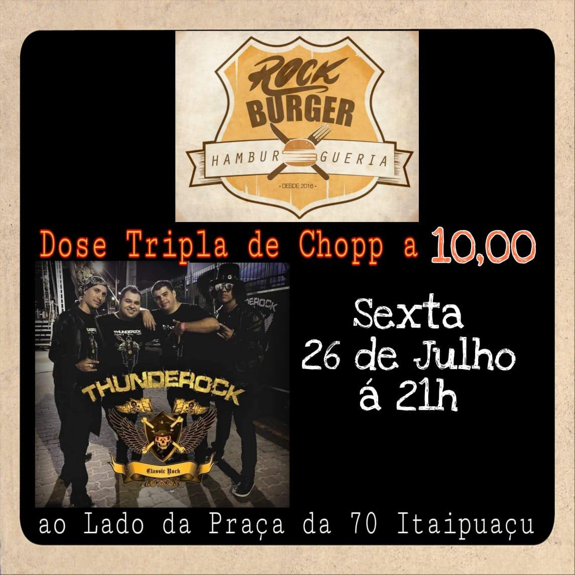 facenews de 26 a 28/07 Thunderock no Rock Burger