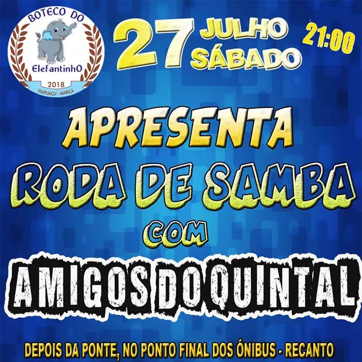 facenews de 26 a 28/07 Amigos do Quintal no Boteco do Elefantinho