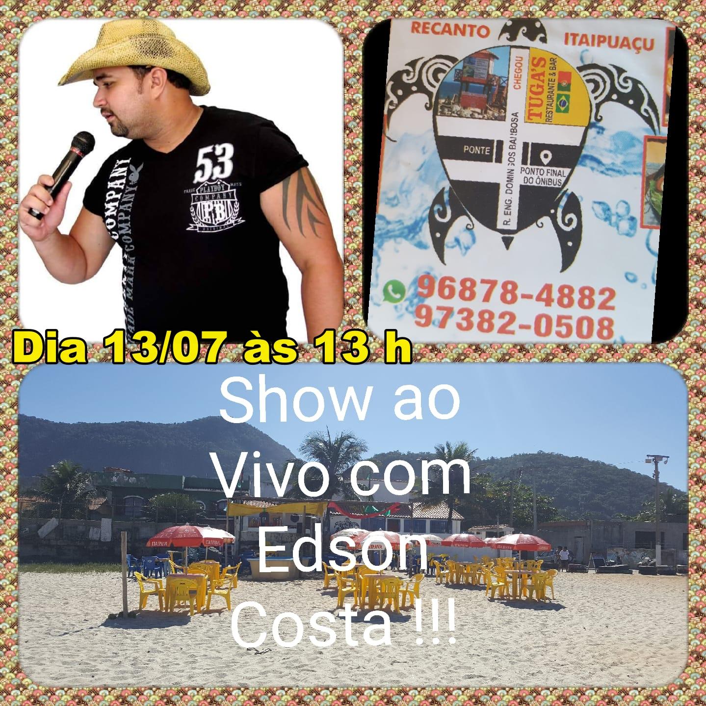 Venha ver Edson Costa no Tuga's Bar