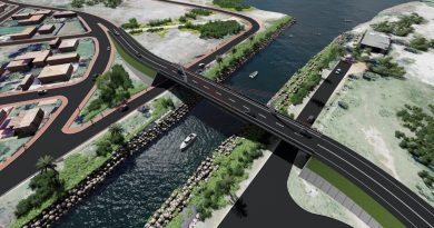 Projeto da nova ponte sobre o canal de Ponta Negra
