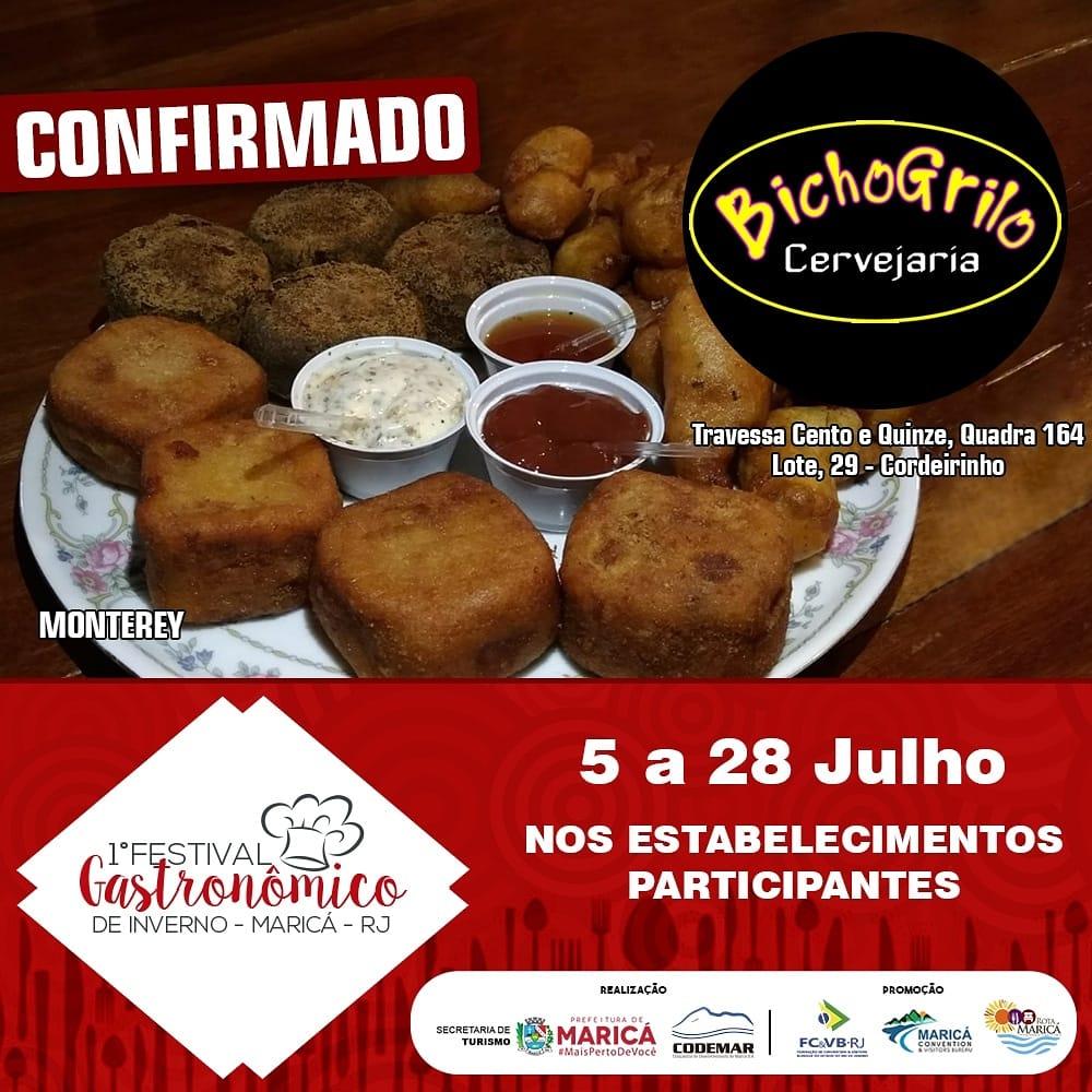 Festival Gastronômico de Inverno de Maricá Bicho Grilo Monterey Pestiscos